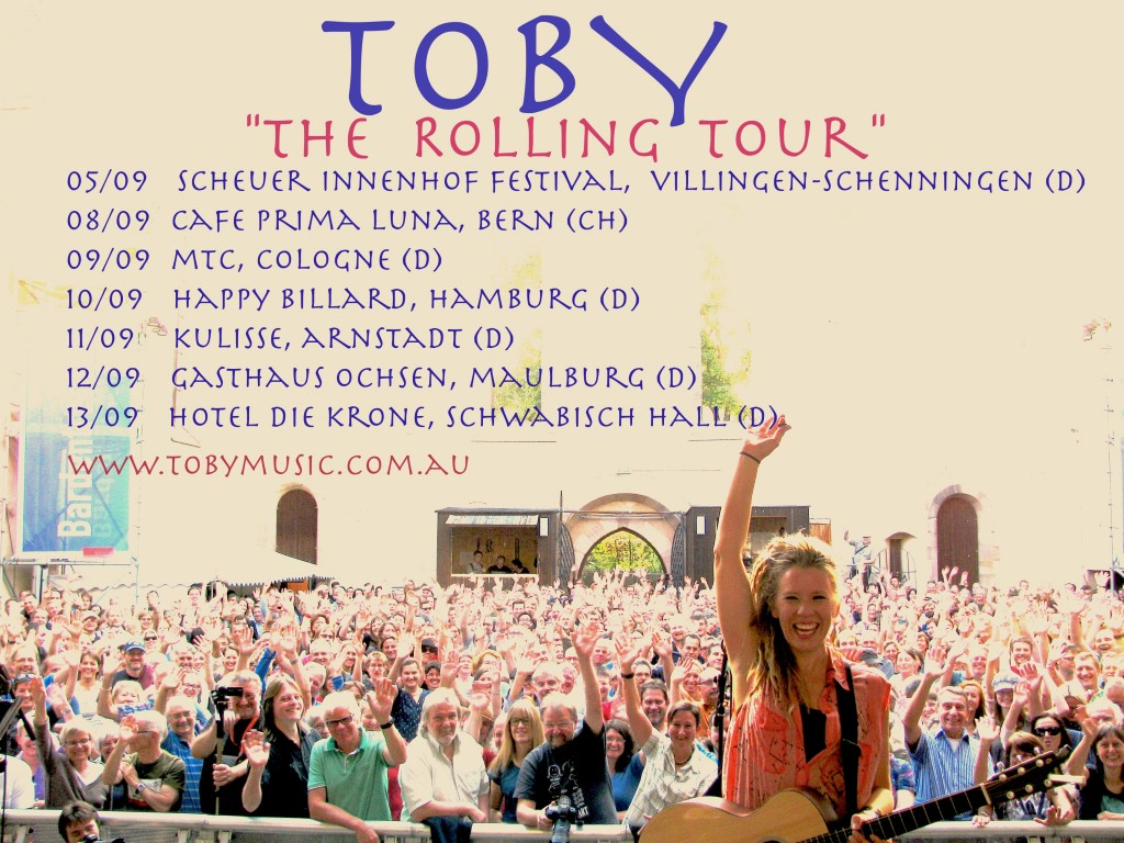 the rolling tour banner